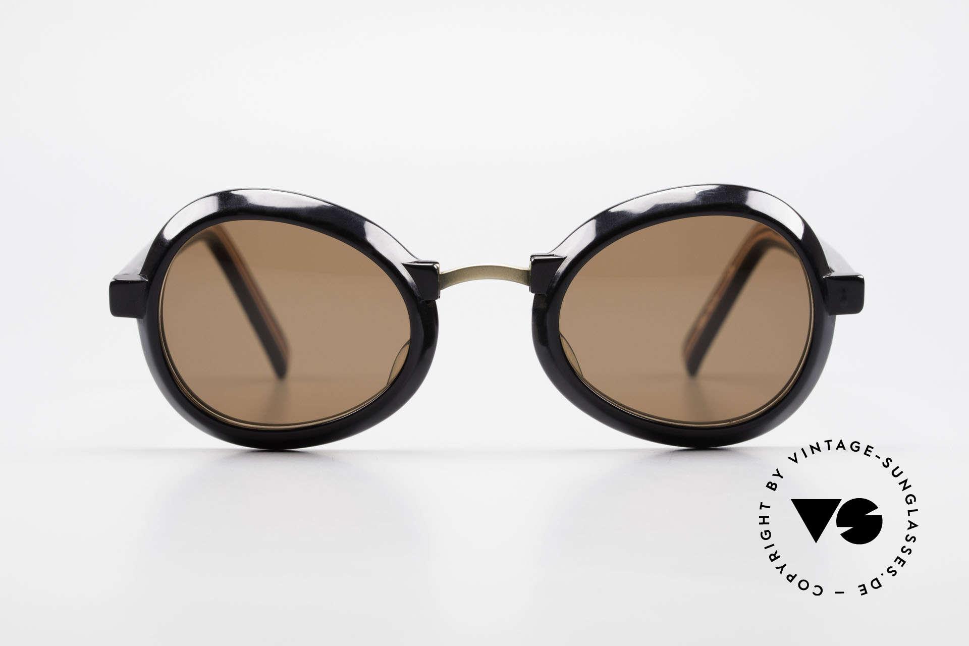 Jean Paul Gaultier 58-1274 Junior Gaultier Vintage Brille, einzigartige Kombination der Materialien im Design, Passend für Herren und Damen