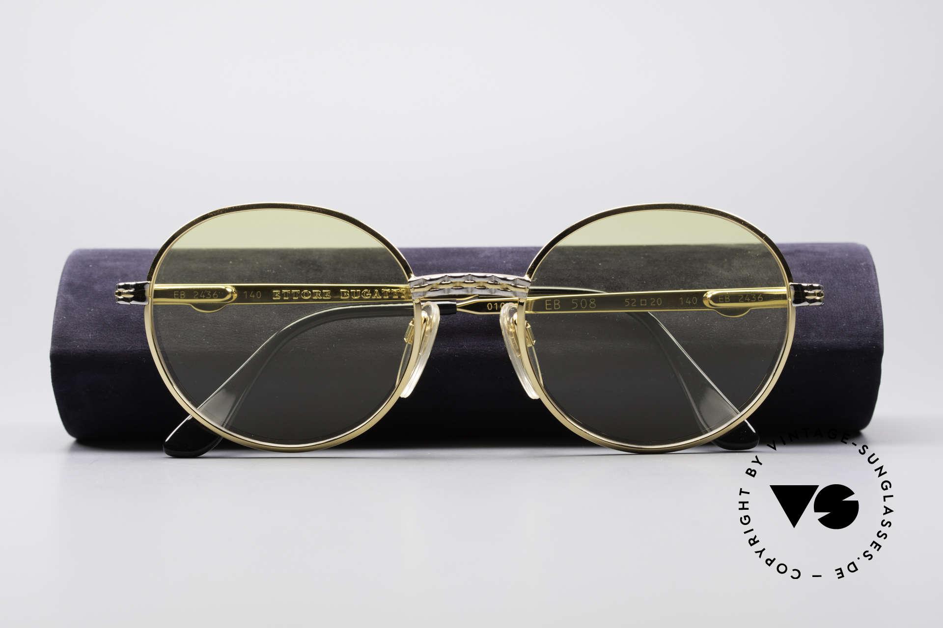 sonnenbrillen bugatti eb508 runde migos vintage brille. Black Bedroom Furniture Sets. Home Design Ideas