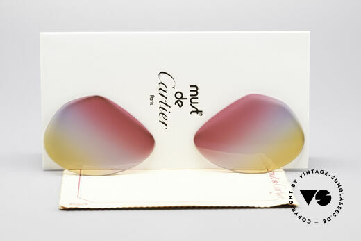 Cartier Vendome Lenses - L Tricolored Sunrise Gläser Details