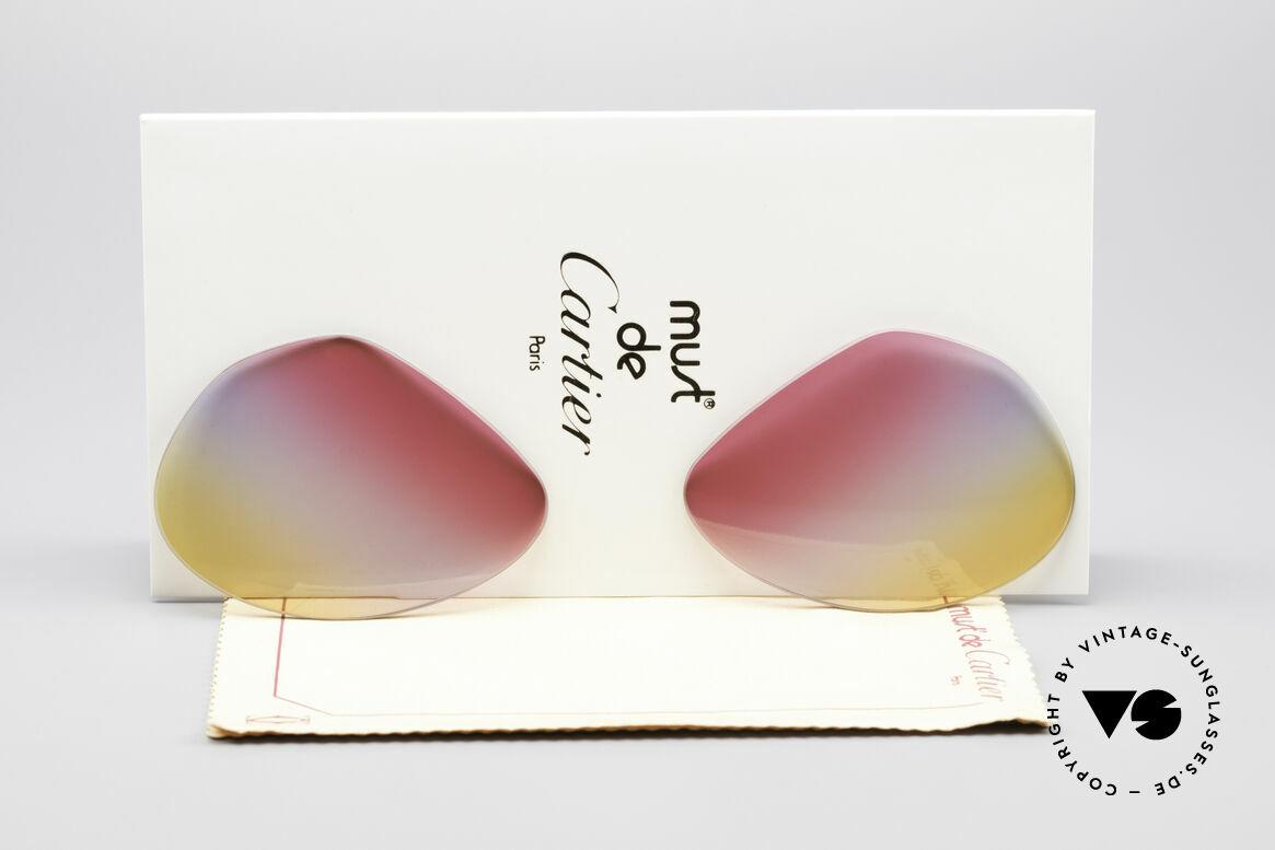 Cartier Vendome Lenses - L Tricolored Sunrise Gläser