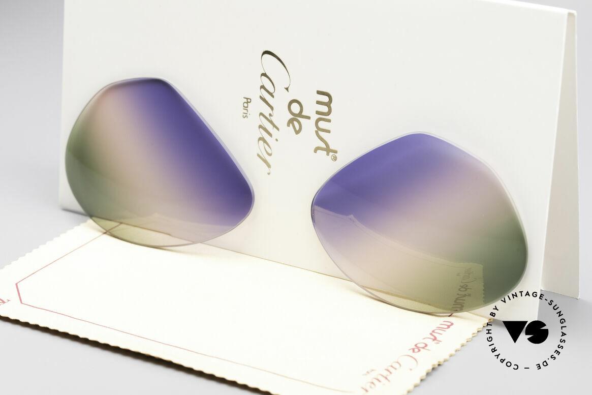 Cartier Vendome Lenses - L Tricolored Horizon Gläser, neue CR39 UV400 Kunststoff-Gläser (100% UV Schutz), Passend für Herren und Damen