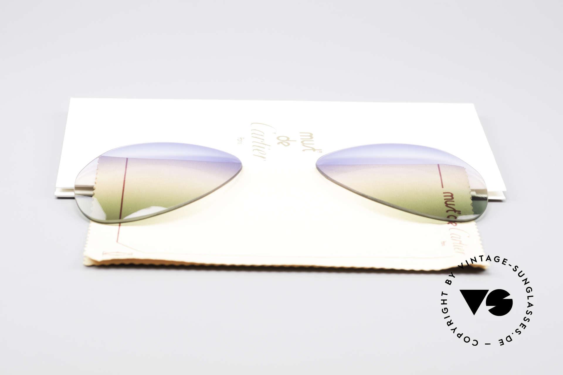 Cartier Vendome Lenses - L Tricolored Horizon Gläser, von unserem Optiker gefertigt: daher neu & kratzerfrei, Passend für Herren und Damen
