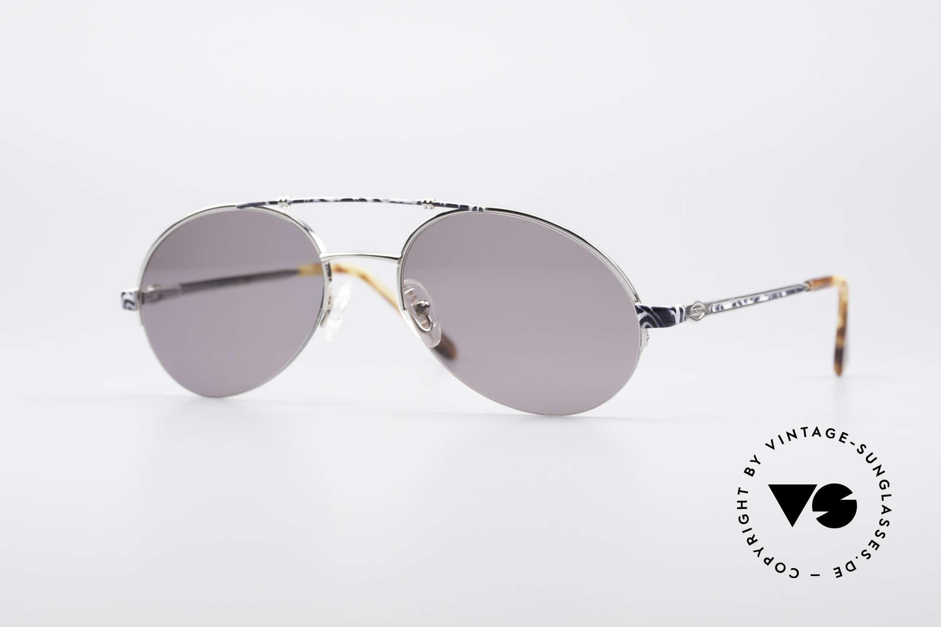 Bugatti 14651 90er Vintage Herrenbrille, dezent elegante Bugatti vintage Sonnenbrille der 90er, Passend für Herren