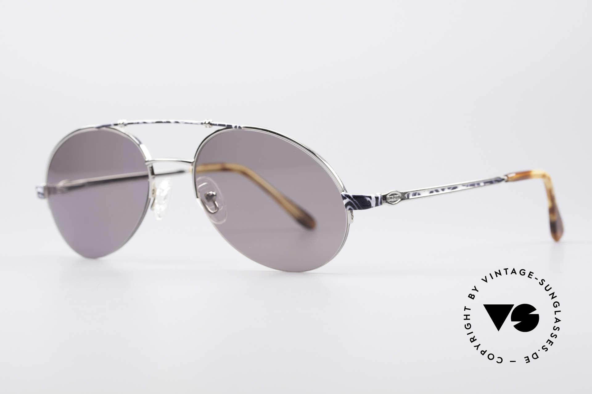 Bugatti 14651 90er Vintage Herrenbrille, typisches Bugatti Herrendesign (eigene Tropfenform), Passend für Herren