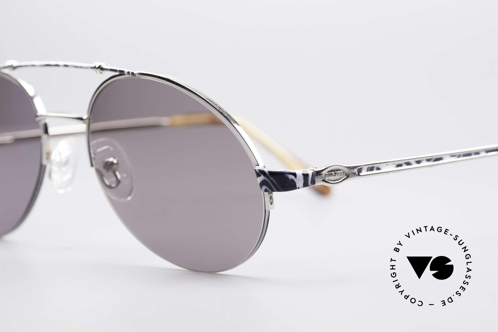 Bugatti 14651 90er Vintage Herrenbrille, edle Federgelenke & Premium-Verarbeitung (100% UV), Passend für Herren