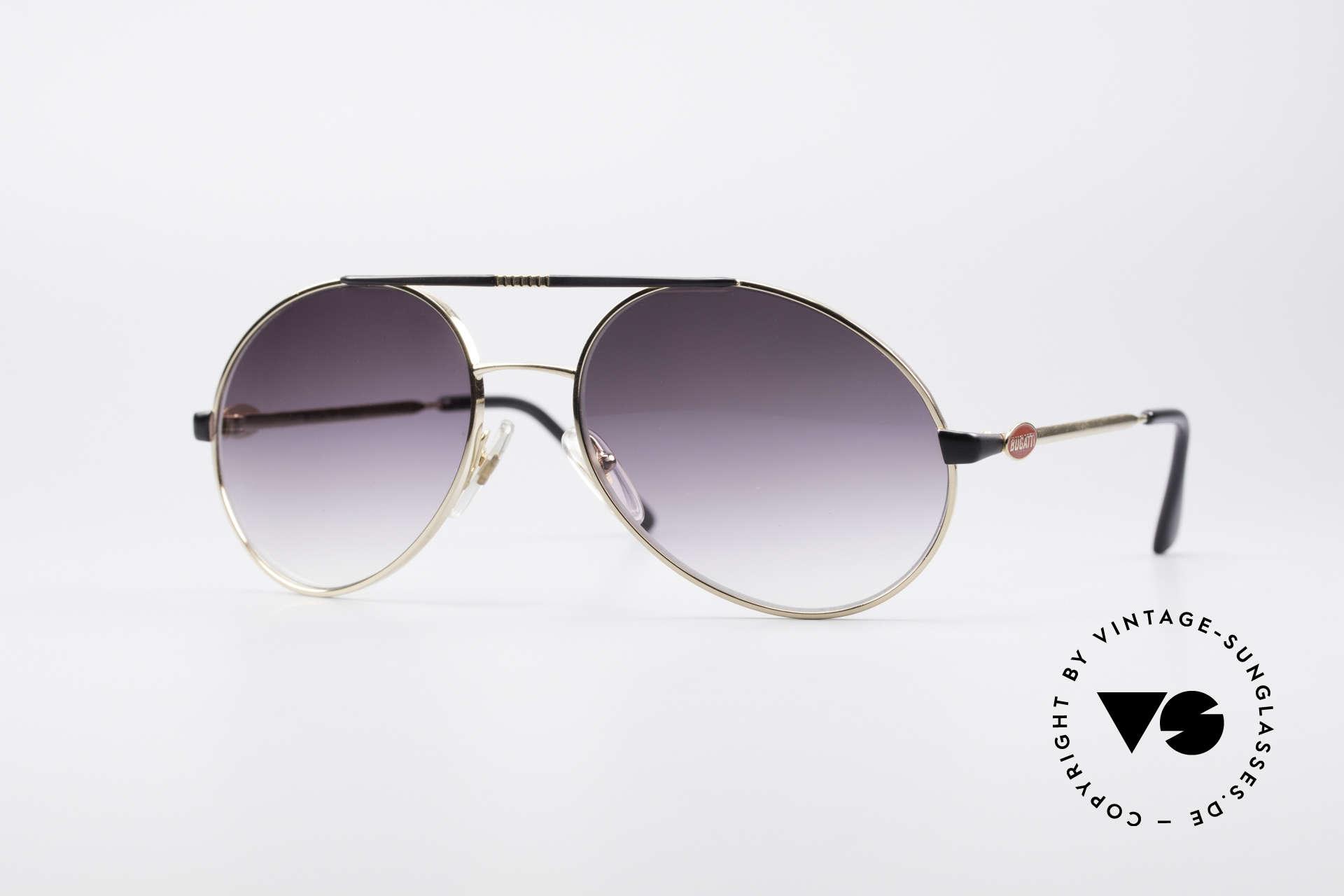 Bugatti 65837 80er Luxus Vintage Brille, vintage Sonnenbrille im klassischen BUGATTI-Design, Passend für Herren