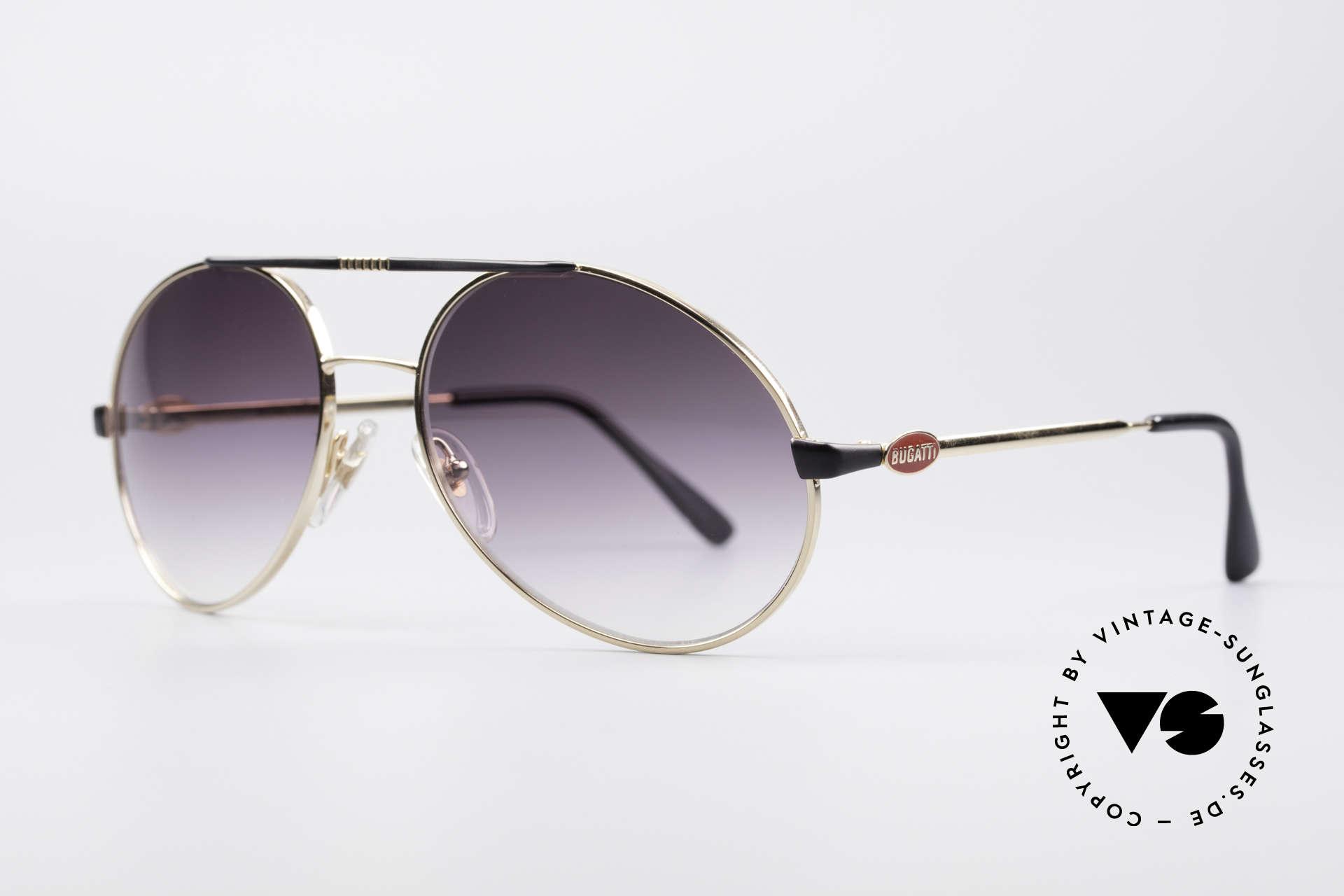 Bugatti 65837 80er Luxus Vintage Brille, Original von 1984; perfekt für den aparten Gentleman, Passend für Herren