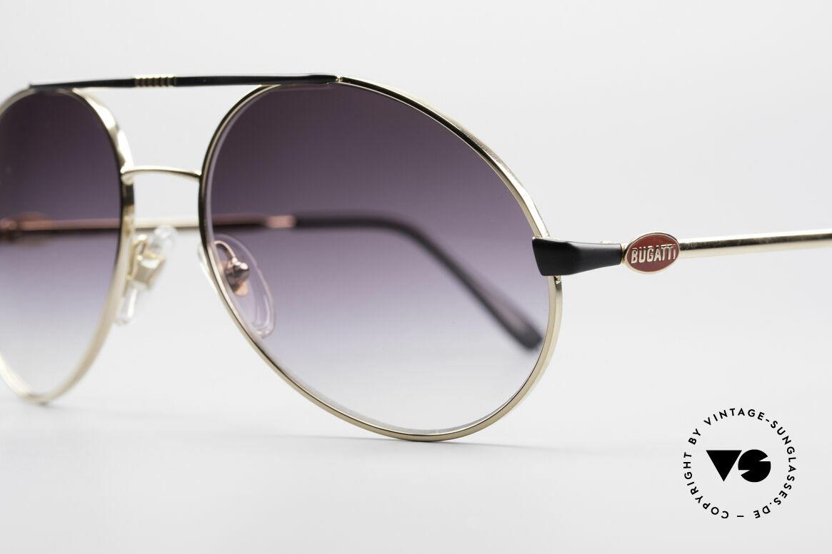 Bugatti 65837 80er Luxus Vintage Brille, Qualität (100% UV) und Tragekomfort auf TOP-Niveau, Passend für Herren