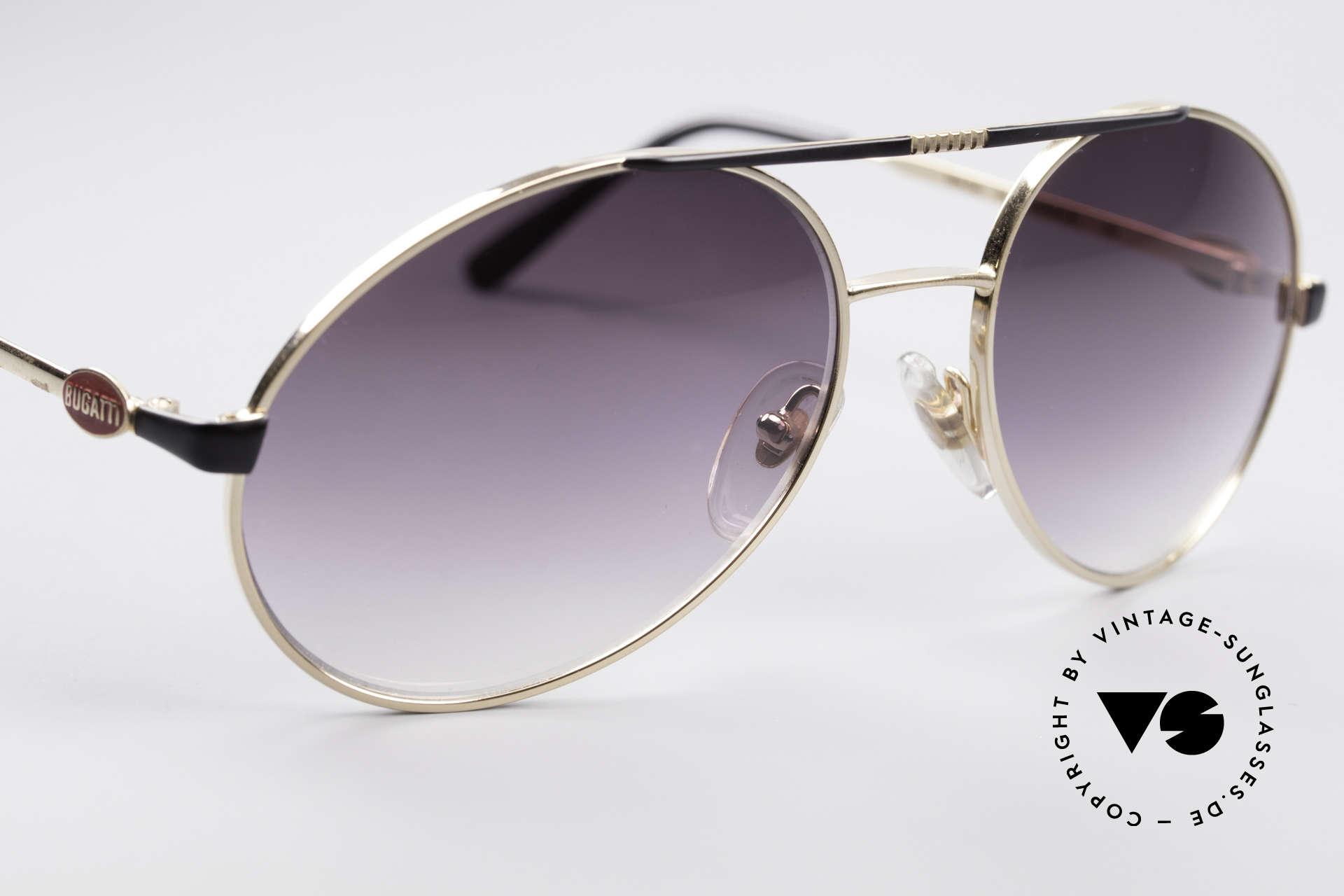 Bugatti 65837 80er Luxus Vintage Brille, ein ungetragener Klassiker & mit original Bugatti Etui, Passend für Herren
