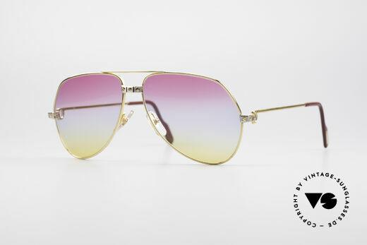 Cartier Vendome Santos - M Rare Aviator Sonnenbrille 80er Details