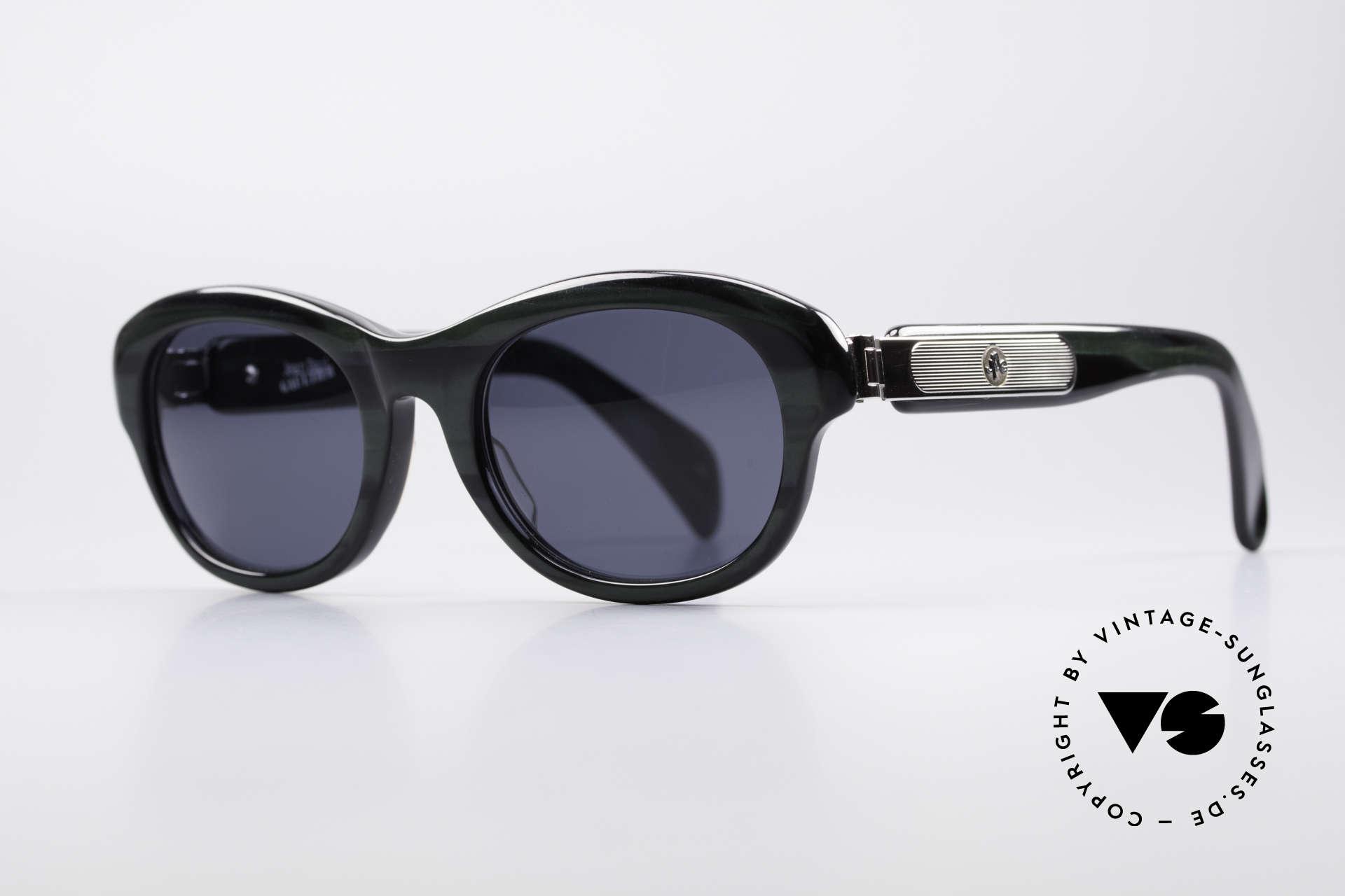 Jean Paul Gaultier 56-2071 True Vintage No Retro Brille, massiver Rahmen & markante Metall-Applikationen, Passend für Damen