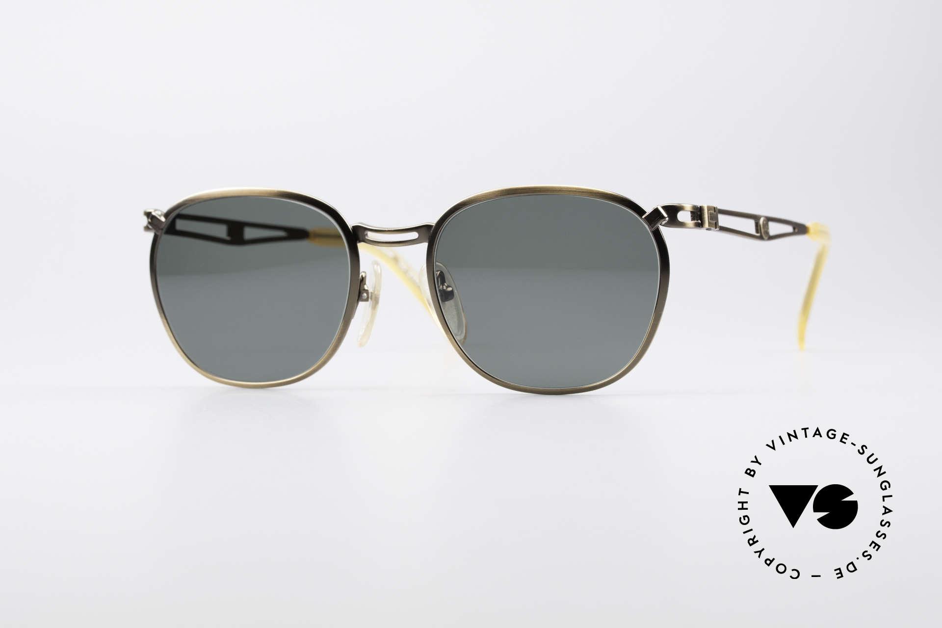 Jean Paul Gaultier 56-2177 90er Designer Sonnenbrille, 90er Jahre Jean Paul GAULTIER Designersonnenbrille, Passend für Herren und Damen