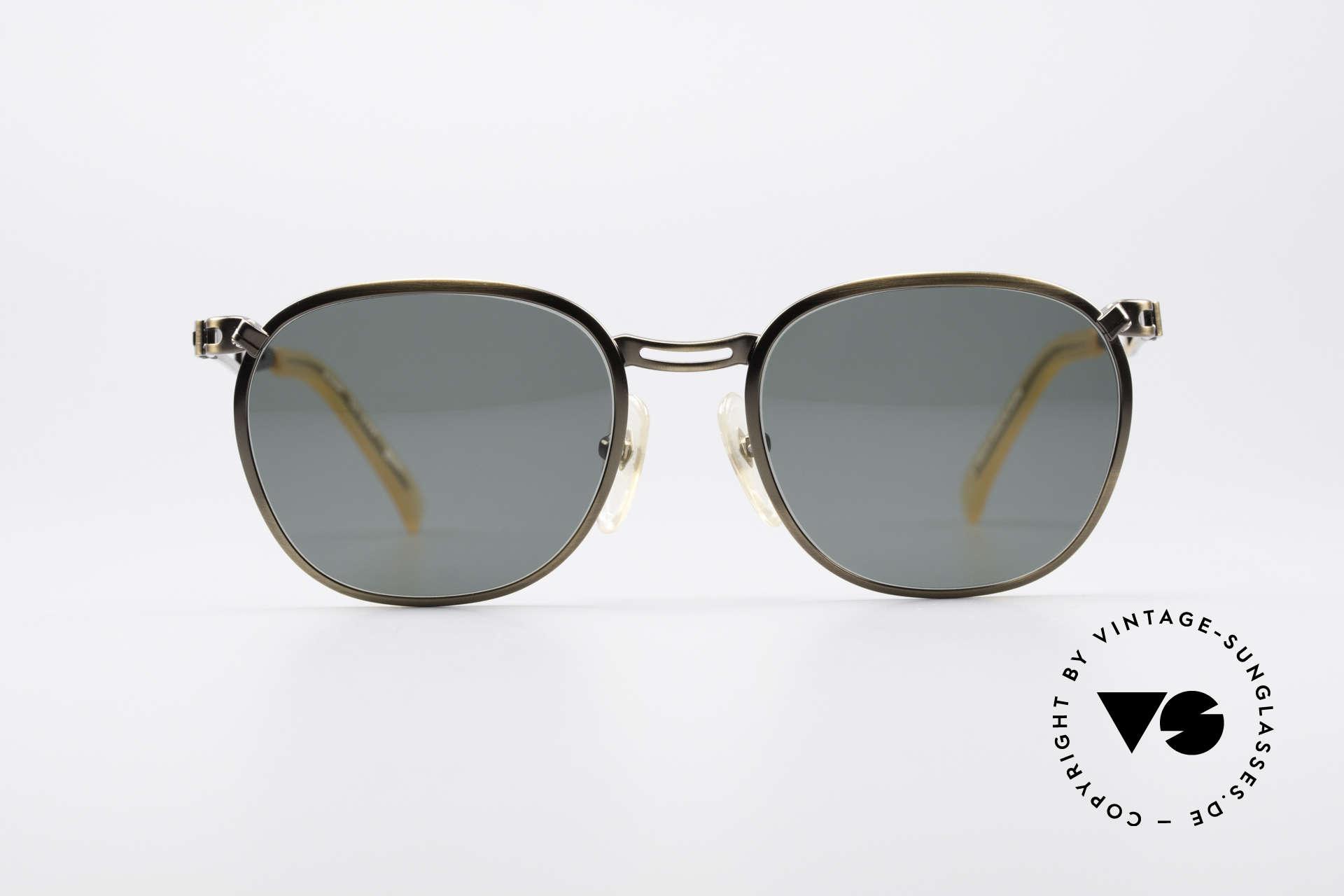 Jean Paul Gaultier 56-2177 90er Designer Sonnenbrille, ungewöhnlich schlichtes Design vom Exzentriker JPG, Passend für Herren und Damen