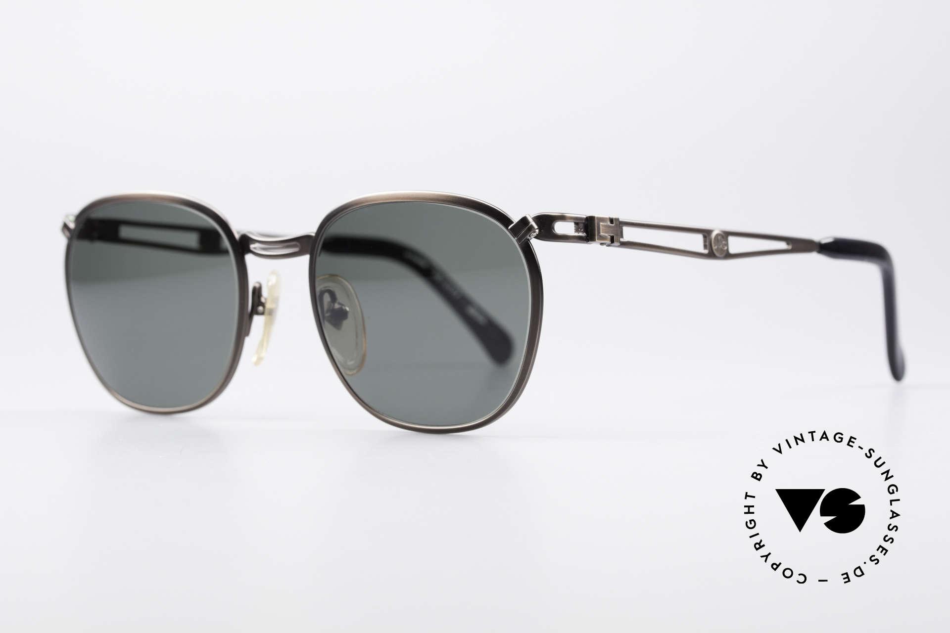 Jean Paul Gaultier 56-2177 Rare Designer Sonnenbrille, aber gewohnte Spitzen-Qualität; wie aus einem Stück, Passend für Herren und Damen
