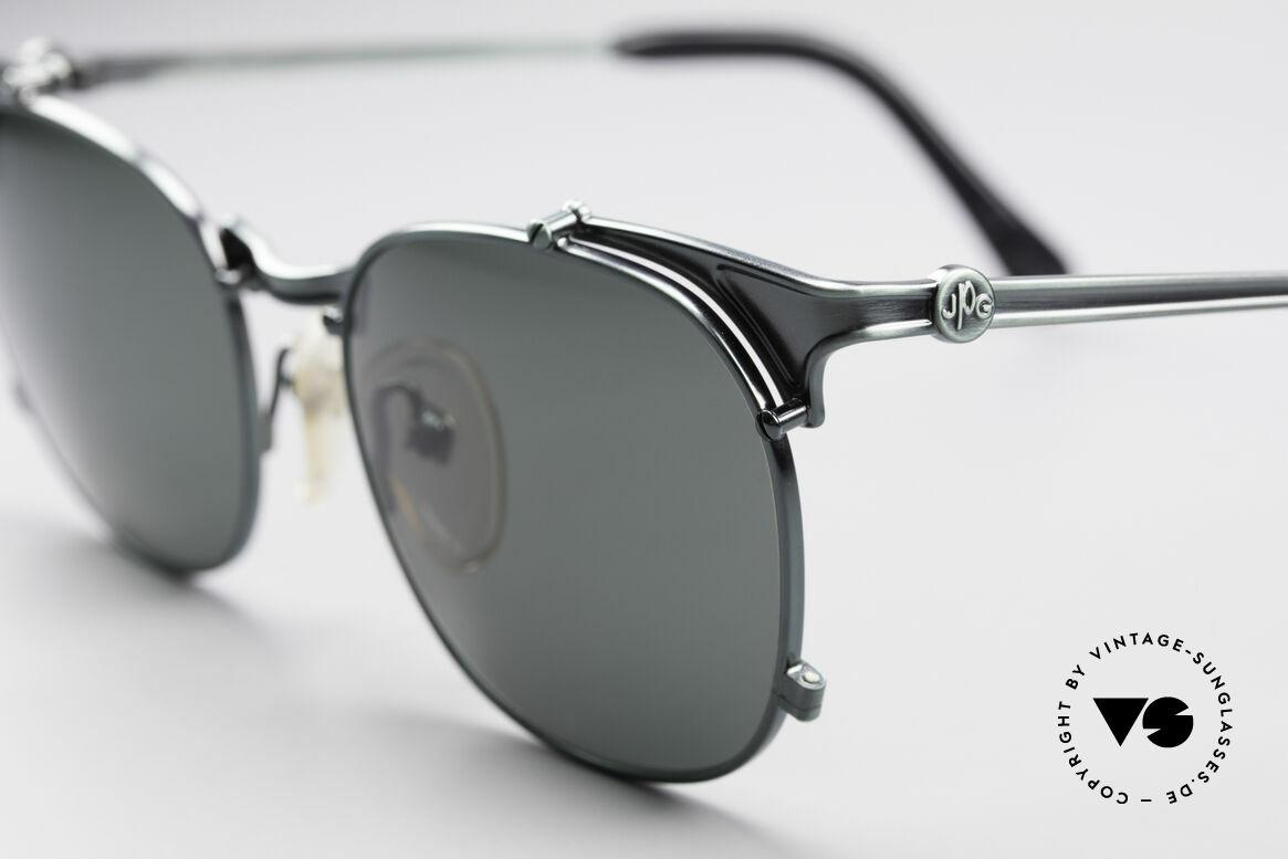 Jean Paul Gaultier 56-2175 Rare Designer Sonnenbrille, Farbkonzept in grün-metallic; mal was anderes!, Passend für Herren und Damen
