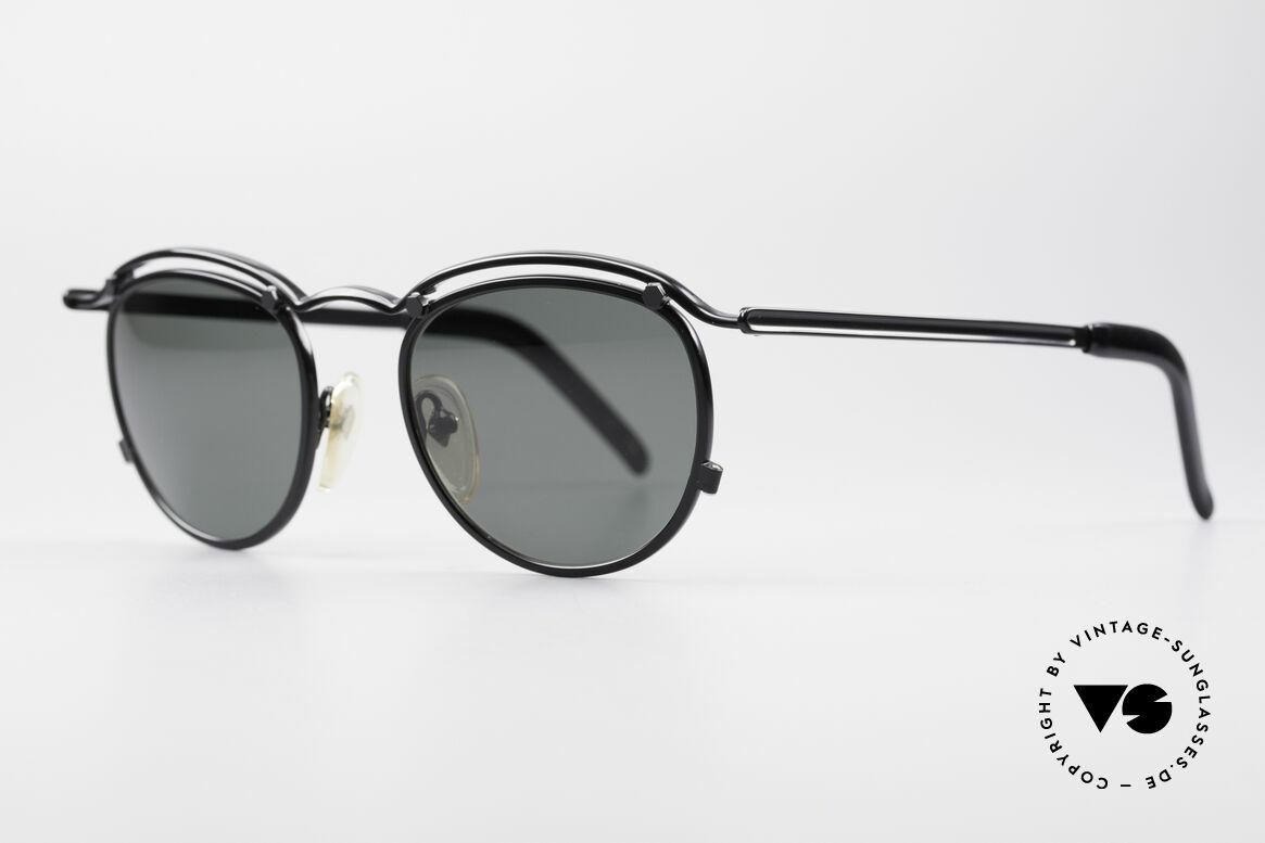 Jean Paul Gaultier 56-1174 Steampunk Panto Brille, unglaublich hochwertige Metallfassung in schwarz, Passend für Herren und Damen