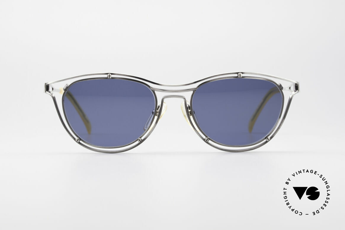Jean Paul Gaultier 56-2176 Echte Designer Sonnenbrille, geniale Rahmenkonstruktion; ein echter Hingucker, Passend für Herren und Damen
