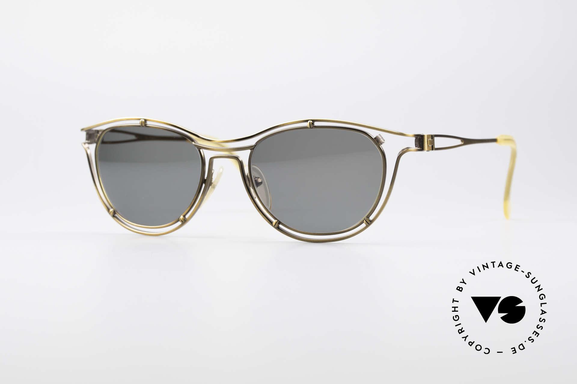 Jean Paul Gaultier 56-2176 90er Designer Sonnenbrille, spektakuläre Jean Paul GAULTIER Designer-Brille, Passend für Herren und Damen