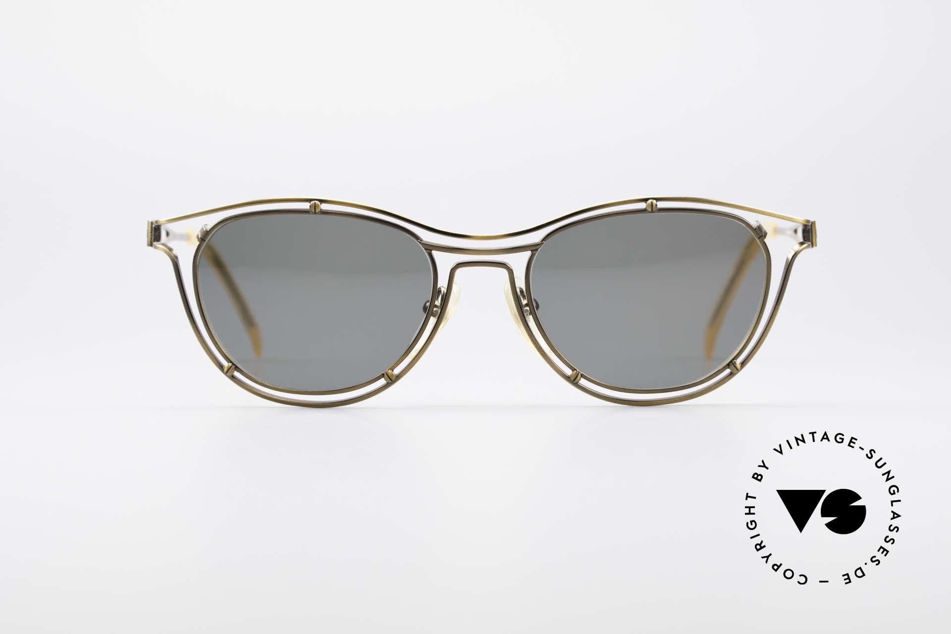 Jean Paul Gaultier 56-2176 90er Designer Sonnenbrille, geniale Rahmenkonstruktion; ein echter Hingucker, Passend für Herren und Damen