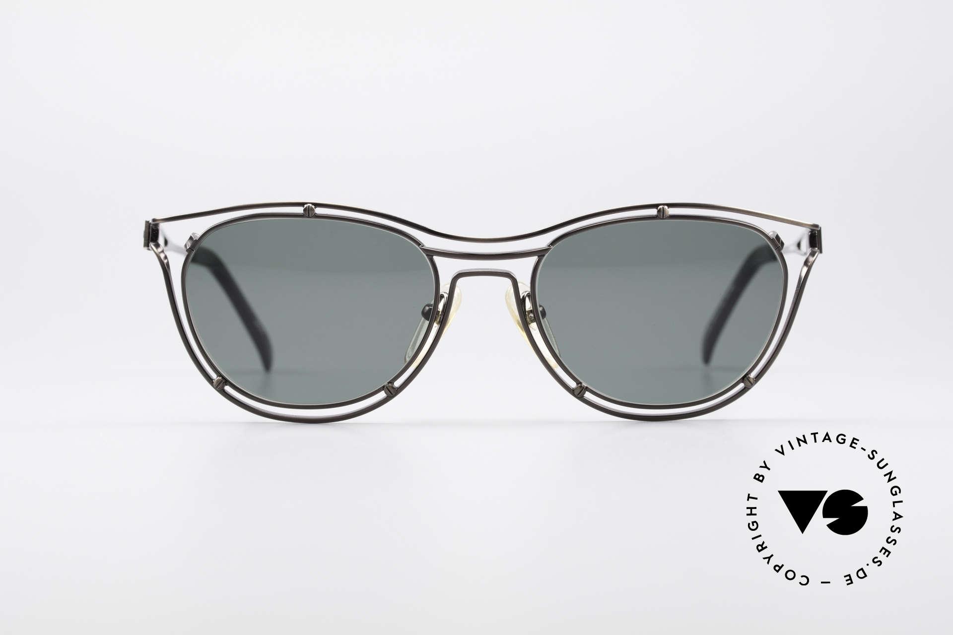 Jean Paul Gaultier 56-2176 Rare Designer Sonnenbrille, geniale Rahmenkonstruktion; ein echter Hingucker, Passend für Herren und Damen