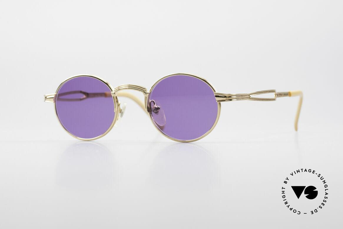 Jean Paul Gaultier 55-7107 XS Kleine Vergoldete Fassung, kleine, runde vintage Brille von Jean Paul GAULTIER, Passend für Herren und Damen