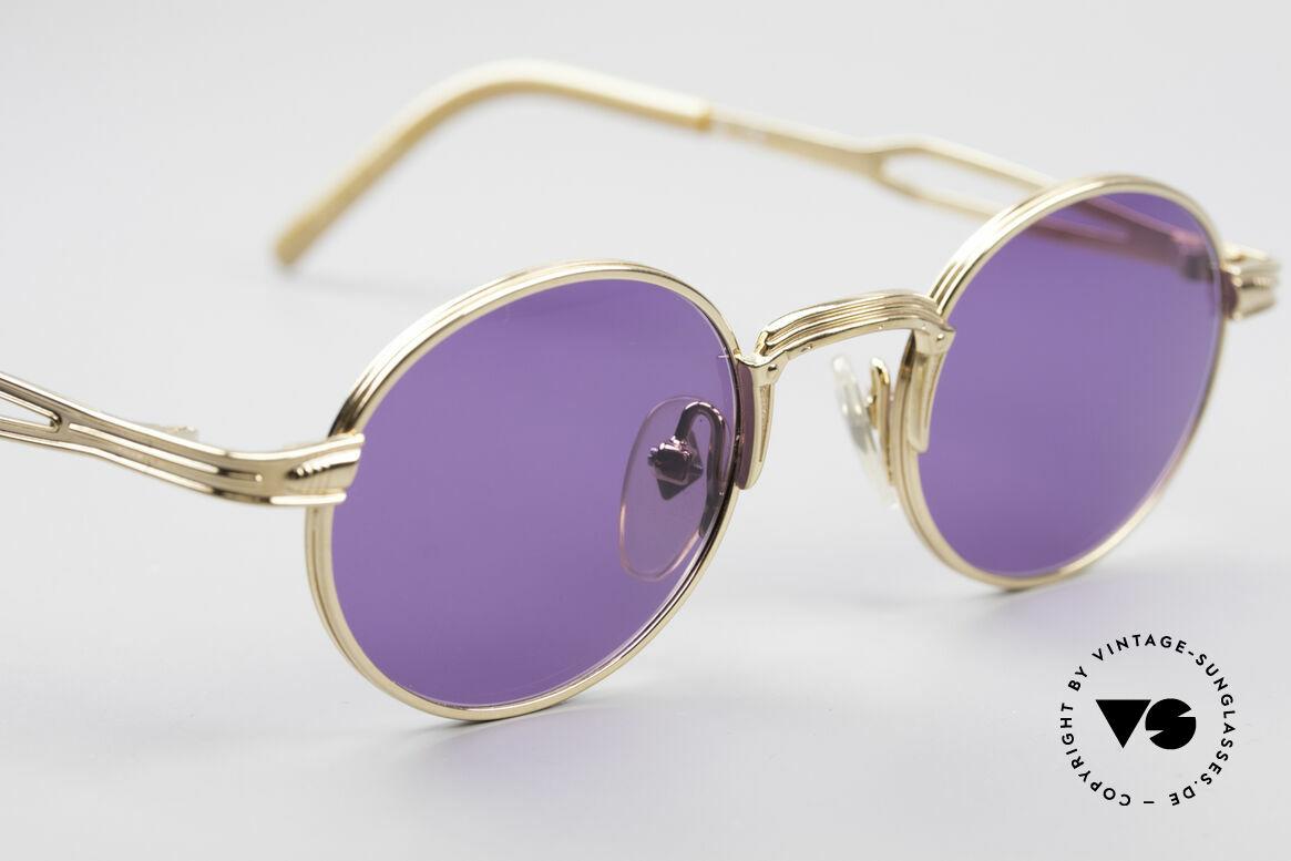 Jean Paul Gaultier 55-7107 XS Kleine Vergoldete Fassung, unbenutzt (wie alle unsere vintage GAULTIER Brillen), Passend für Herren und Damen