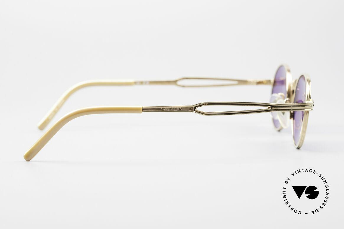 Jean Paul Gaultier 55-7107 XS Kleine Vergoldete Fassung, Größe: small, Passend für Herren und Damen