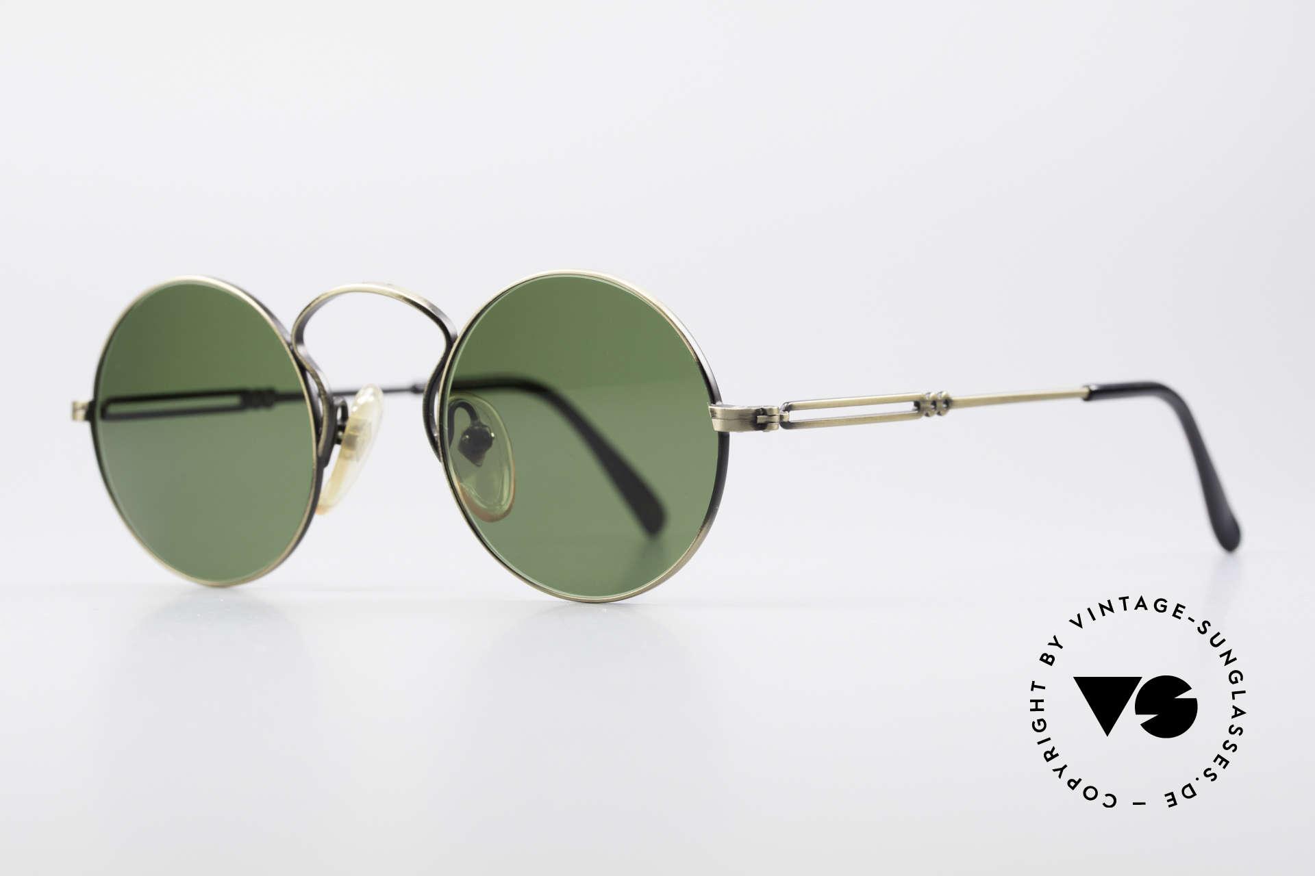 """Jean Paul Gaultier 55-0172 90er Designer Sonnenbrille, hochklassig gebürstete Oberfläche in """"Antik Gold"""", Passend für Herren und Damen"""