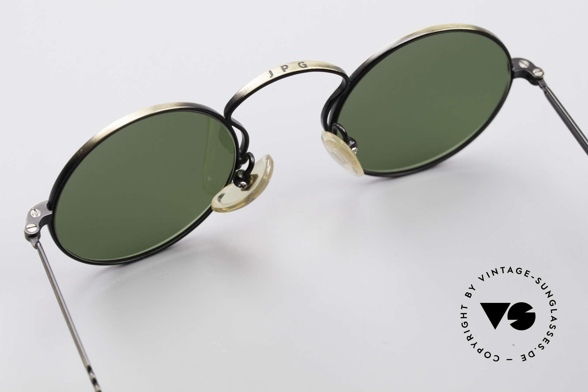 Jean Paul Gaultier 55-0172 90er Designer Sonnenbrille, grüne Gläser können durch optische ersetzt werden, Passend für Herren und Damen