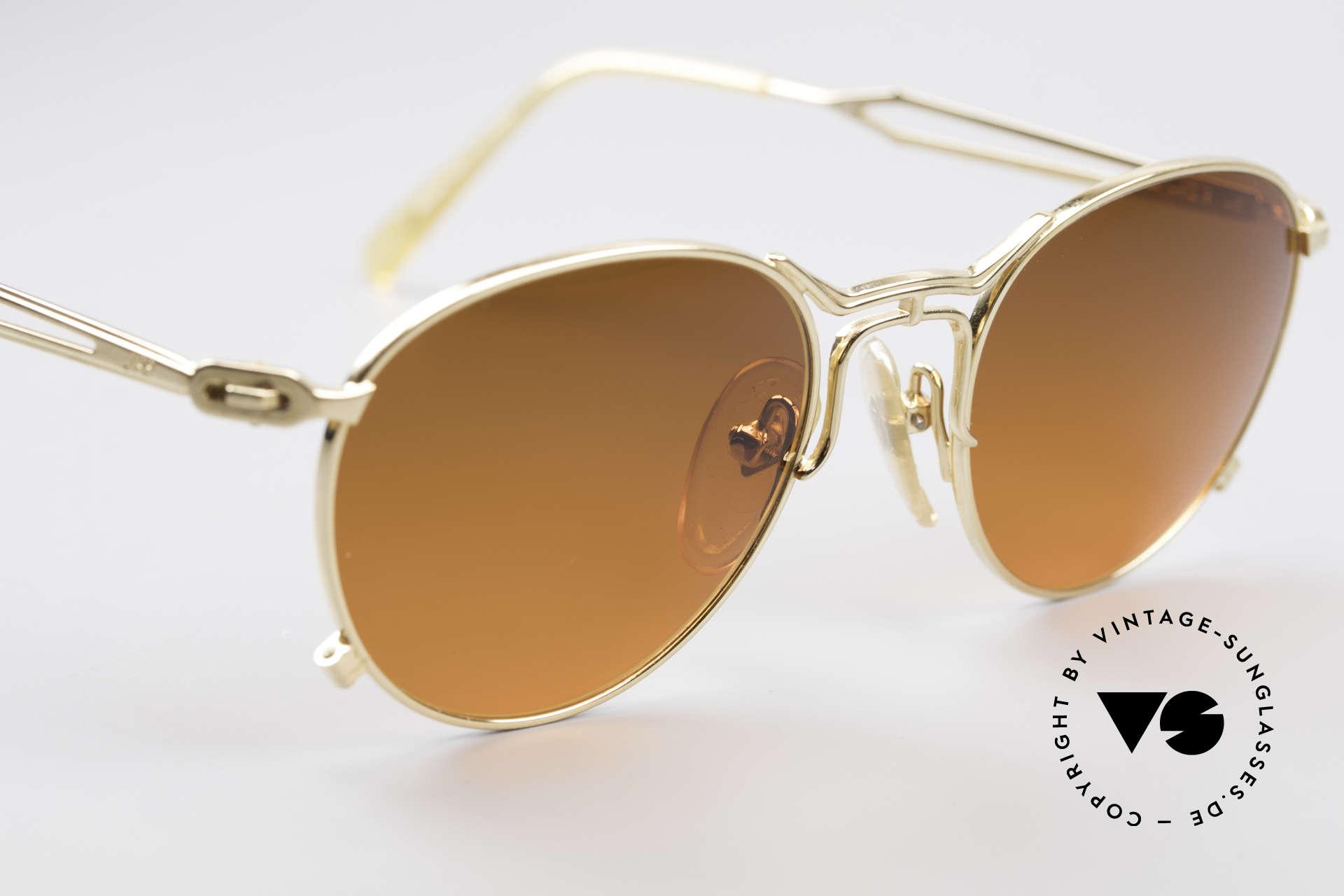Jean Paul Gaultier 55-2177 Vergoldete Designer Fassung, ungetragen (wie alle unsere vintage GAULTIER Brillen), Passend für Herren und Damen