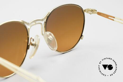 Jean Paul Gaultier 55-2177 Vergoldete Designer Fassung, KEINE RETRObrille; ein kostbares ORIGINAL von 1996, Passend für Herren und Damen