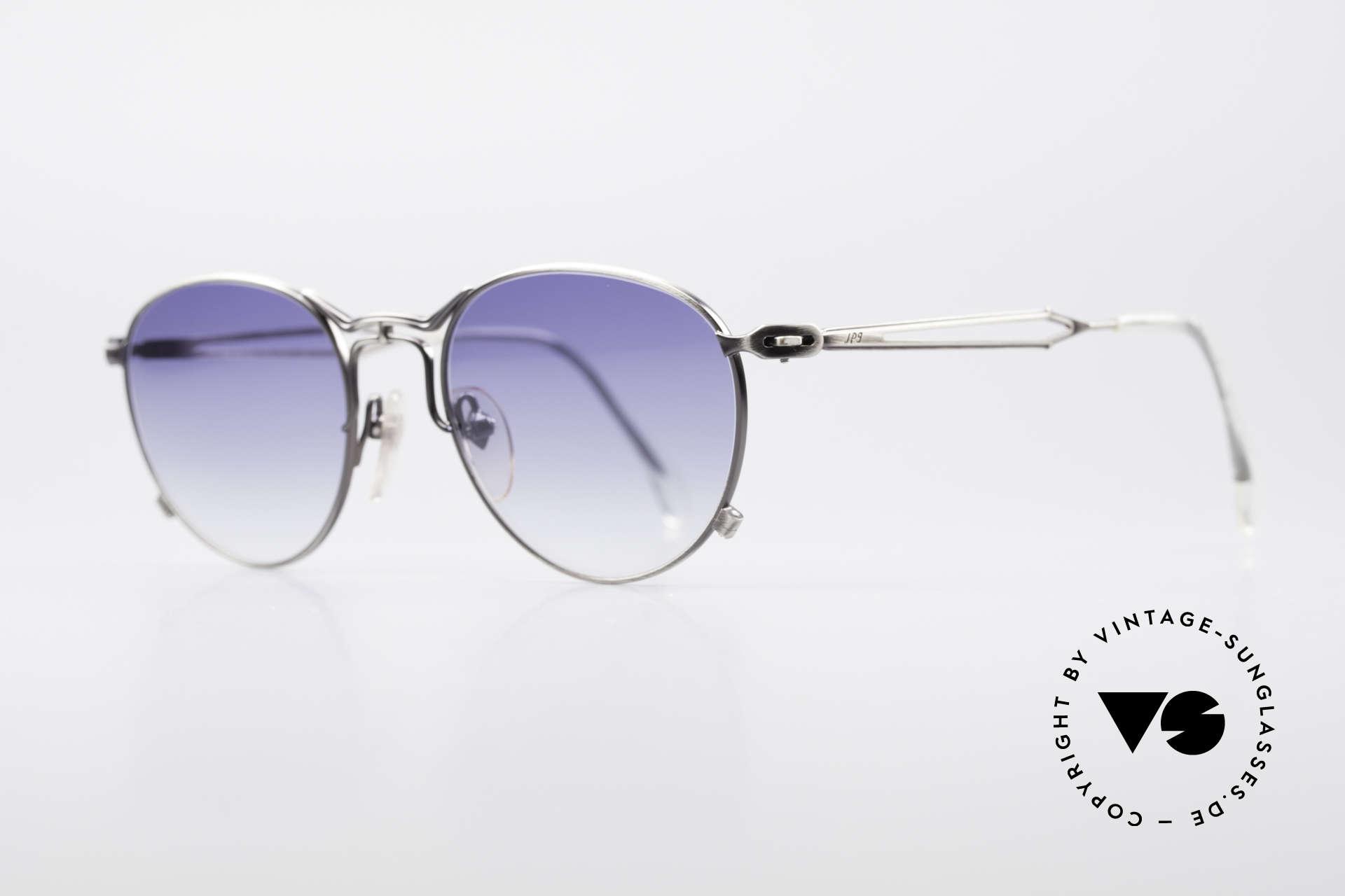 Jean Paul Gaultier 55-2177 Rare Designer Sonnenbrille, auch genannt: Holzkohle-Silber/Grau od. Antik-Silber, Passend für Herren und Damen