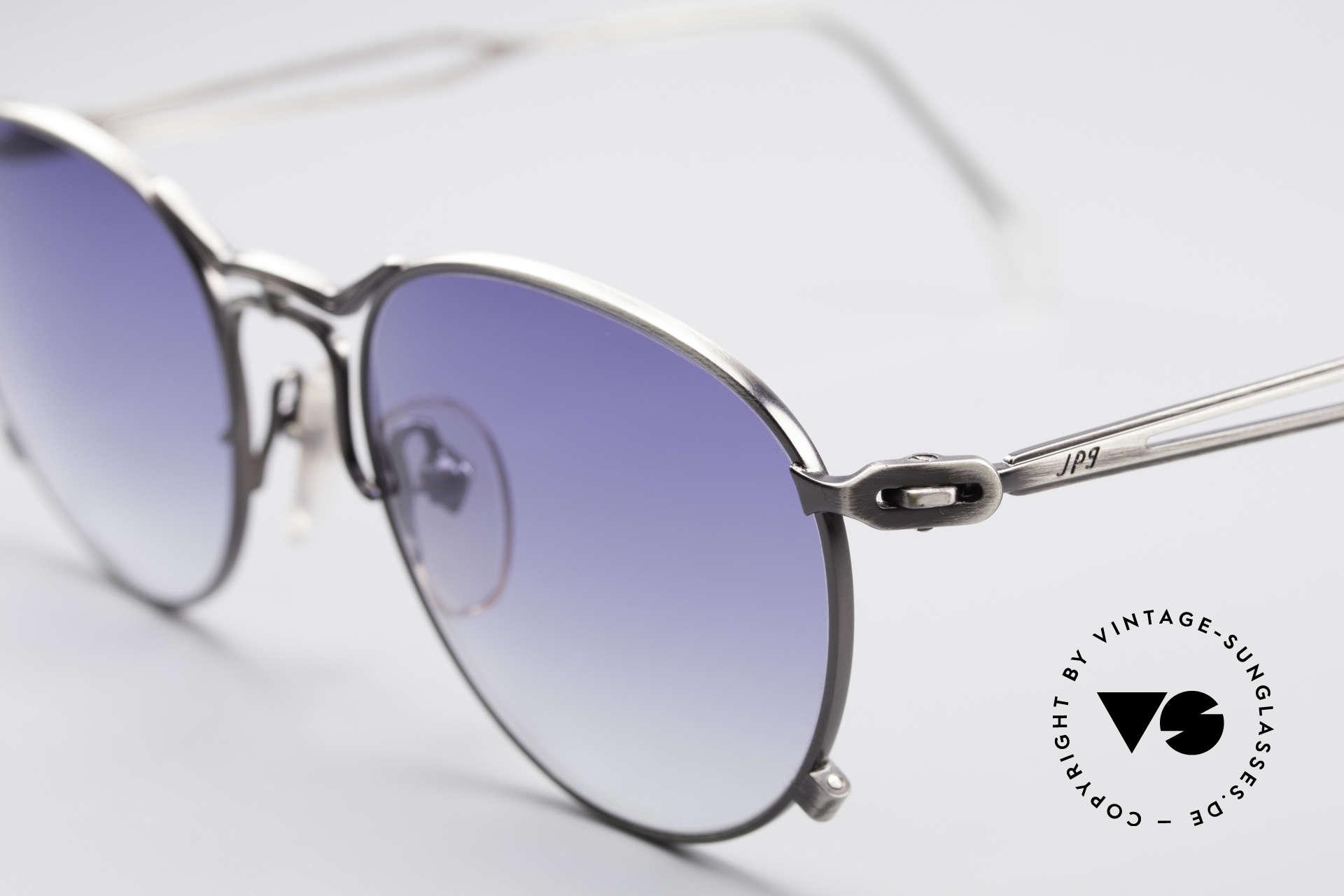 Jean Paul Gaultier 55-2177 Rare Designer Sonnenbrille, mit eleganten Sonnengläsern in blau-Verlauf; 100% UV, Passend für Herren und Damen
