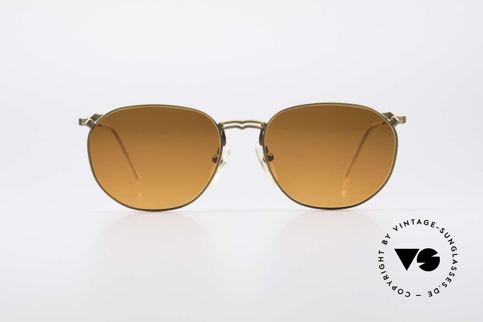 Jean Paul Gaultier 55-2173 90er Designer Sonnenbrille, edle Kombination: bronze Fassung mit 'Sunset-Gläsern', Passend für Herren und Damen