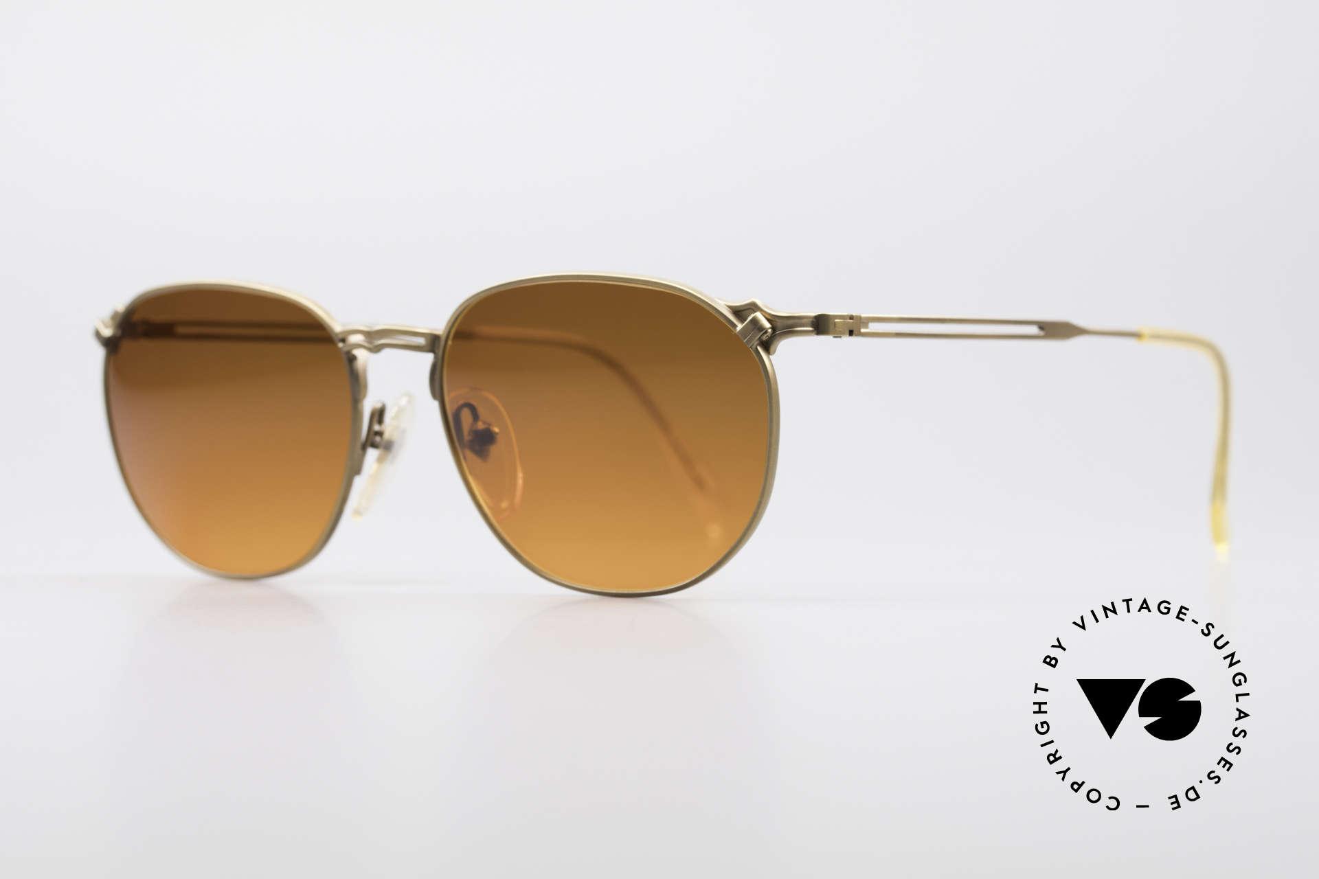 Jean Paul Gaultier 55-2173 90er Designer Sonnenbrille, toller Farbverlauf wie ein Sonnenuntergang / Abendrot, Passend für Herren und Damen