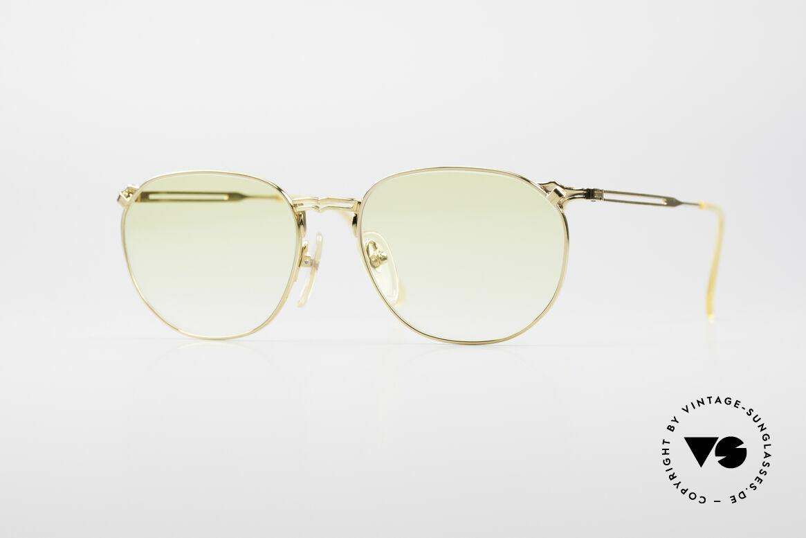 Jean Paul Gaultier 55-2173 Vergoldete Designerbrille, interessante vintage GAULTIER Designer-Sonnenbrille, Passend für Herren und Damen