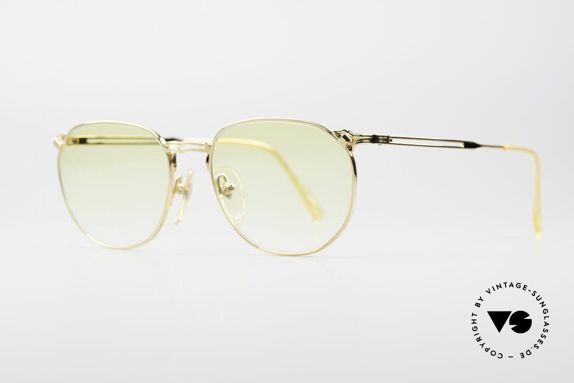 Jean Paul Gaultier 55-2173 Vergoldete Designerbrille, daher auch abends tragbar & ein vielseitiges Accessoire, Passend für Herren und Damen