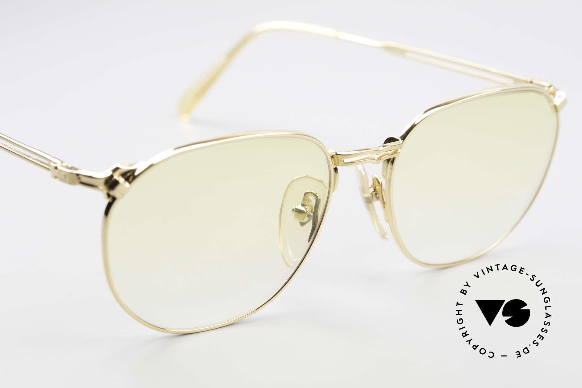 Jean Paul Gaultier 55-2173 Vergoldete Designerbrille, ungetragen (wie alle unsere vintage GAULTIER Brillen), Passend für Herren und Damen