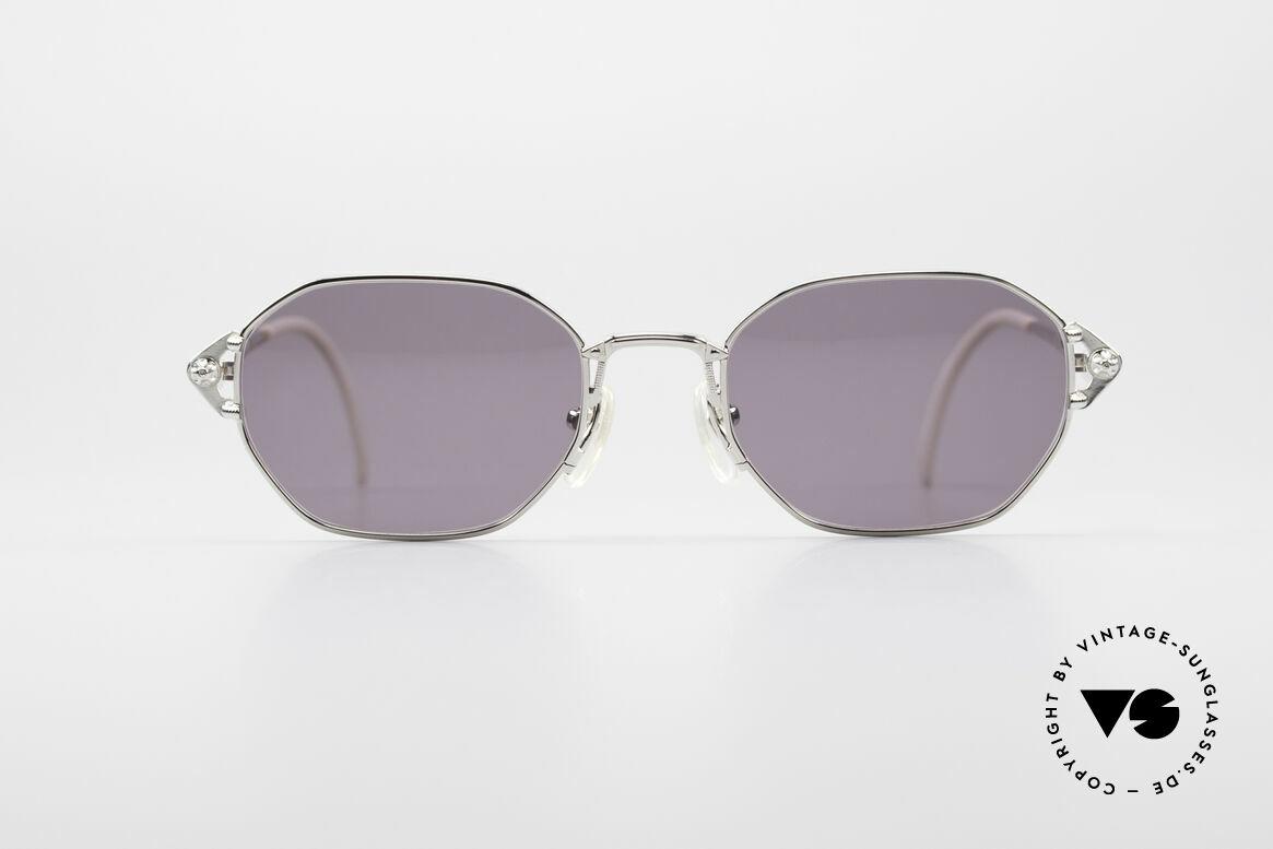 Jean Paul Gaultier 55-6106 90er Vintage Sonnenbrille, leichtes Gestell mit großartigen Details (Bügelansatz), Passend für Herren und Damen