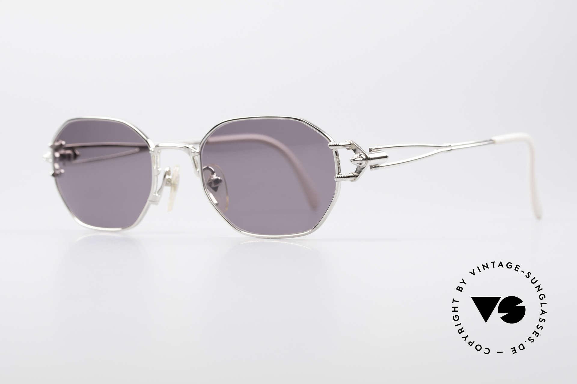 Jean Paul Gaultier 55-6106 90er Vintage Sonnenbrille, technische / mechanische Komponenten (typisch J.P.G), Passend für Herren und Damen