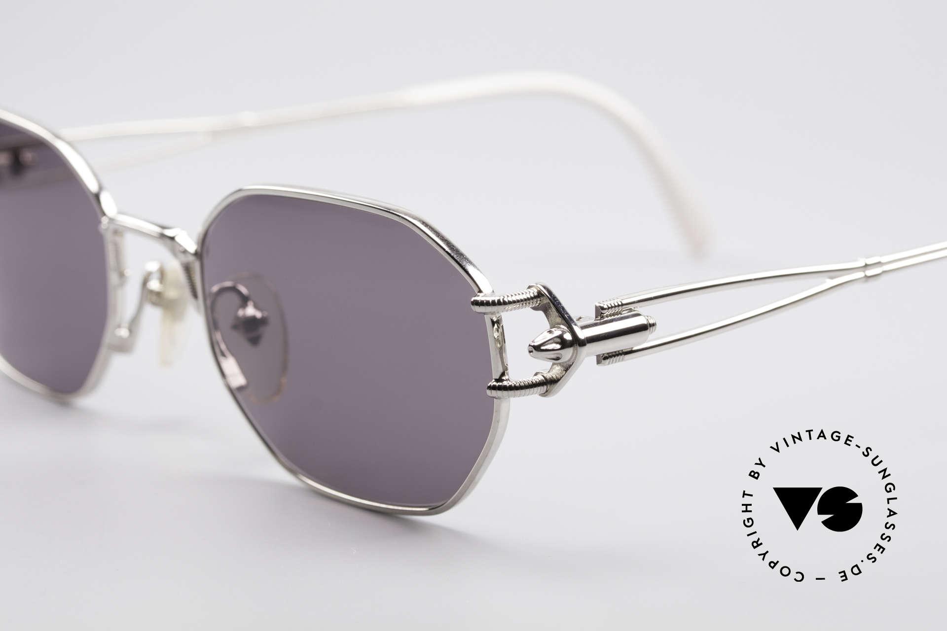 Jean Paul Gaultier 55-6106 90er Vintage Sonnenbrille, enorm hochwertig (made in Japan) & 100% UV Schutz, Passend für Herren und Damen