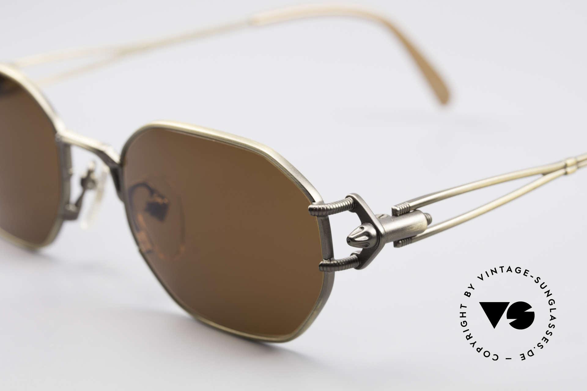 Jean Paul Gaultier 55-6106 90er Designer Sonnenbrille, enorm hochwertig (made in Japan) & 100% UV Schutz, Passend für Herren und Damen