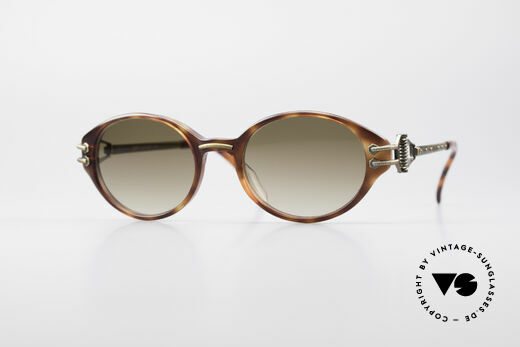 Jean Paul Gaultier 55-5201 Ovale Steampunk Brille Details