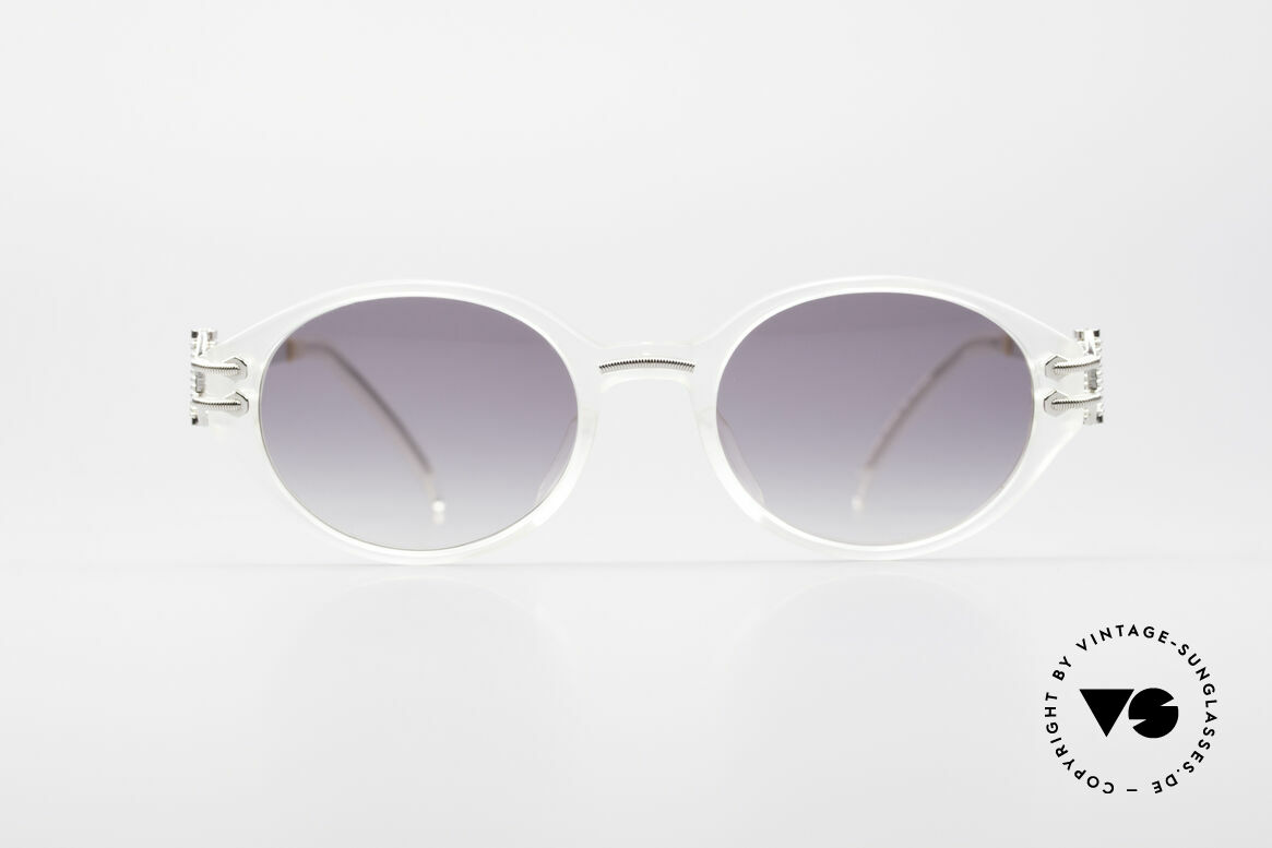 Jean Paul Gaultier 55-5201 90er Steampunk Brille, edle 90er Jean Paul Gaultier Designer-Sonnenbrille, Passend für Herren und Damen