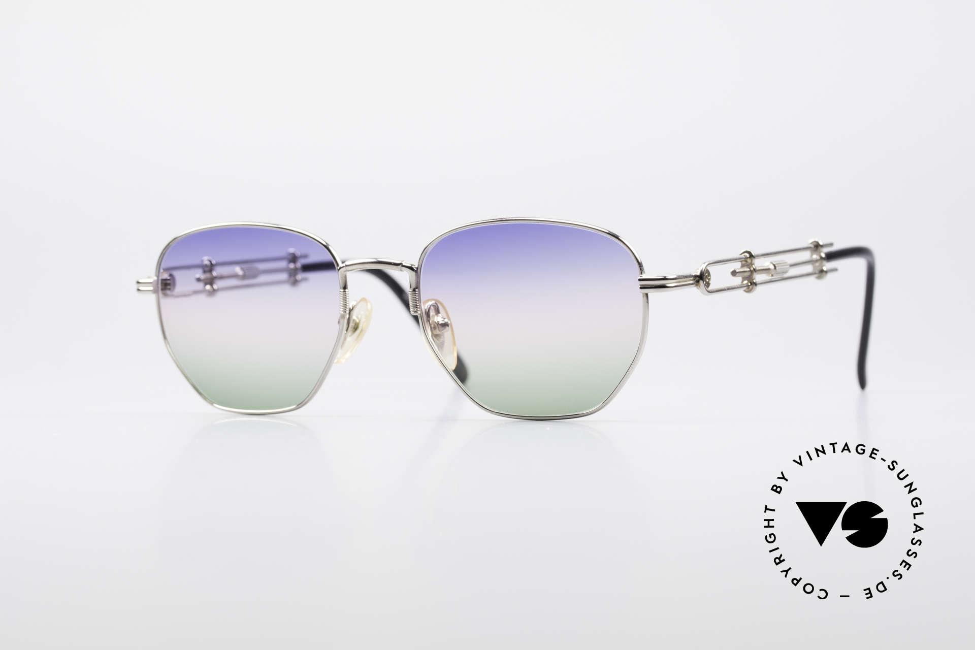 Jean Paul Gaultier 55-4174 Einstellbare Vintage Brille, einzigartige Designer-Sonnenbrille von J.P. GAULTIER, Passend für Herren und Damen