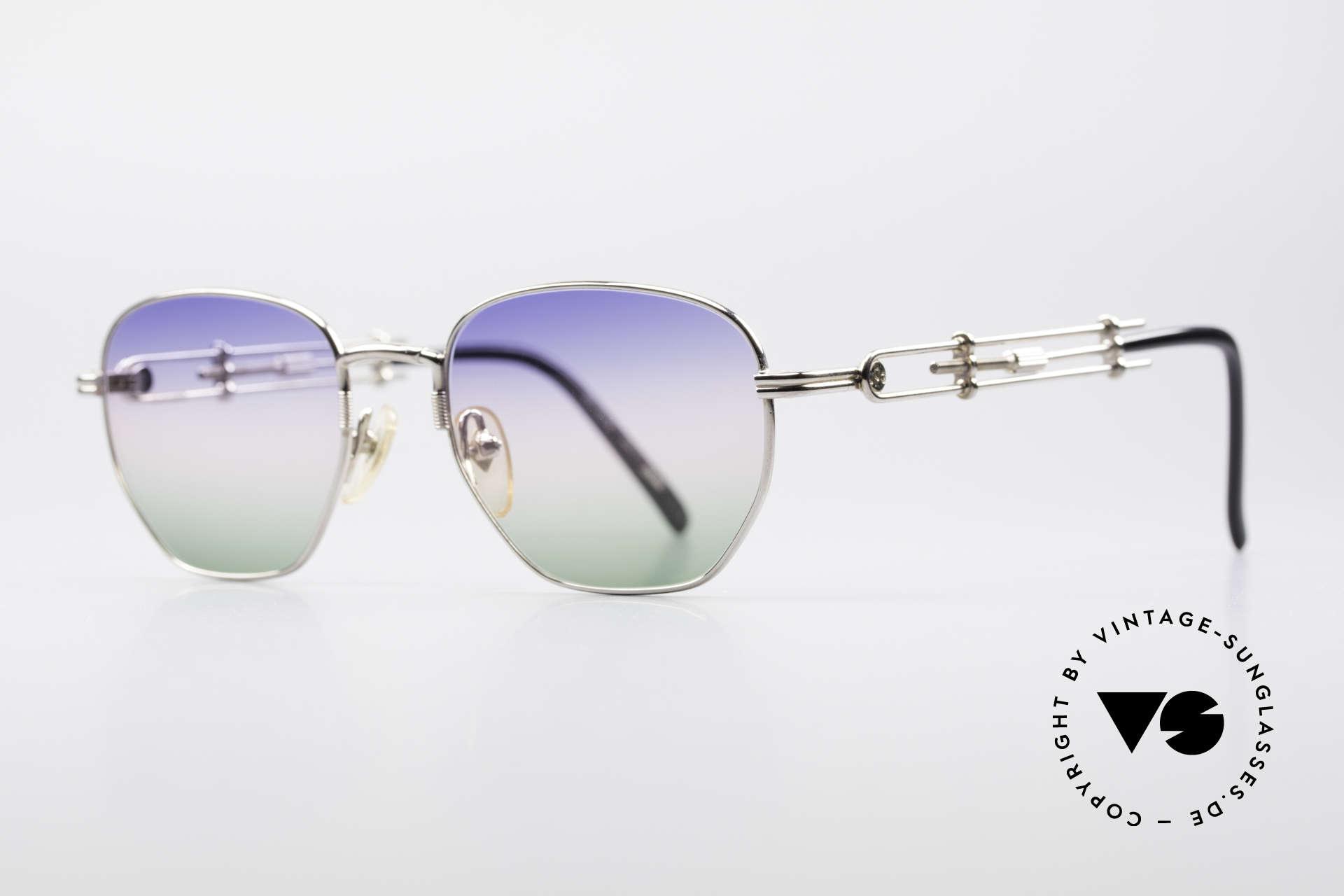 Jean Paul Gaultier 55-4174 Einstellbare Vintage Brille, mit sehr schicken 'tricolor customized' Verlaufsgläsern, Passend für Herren und Damen