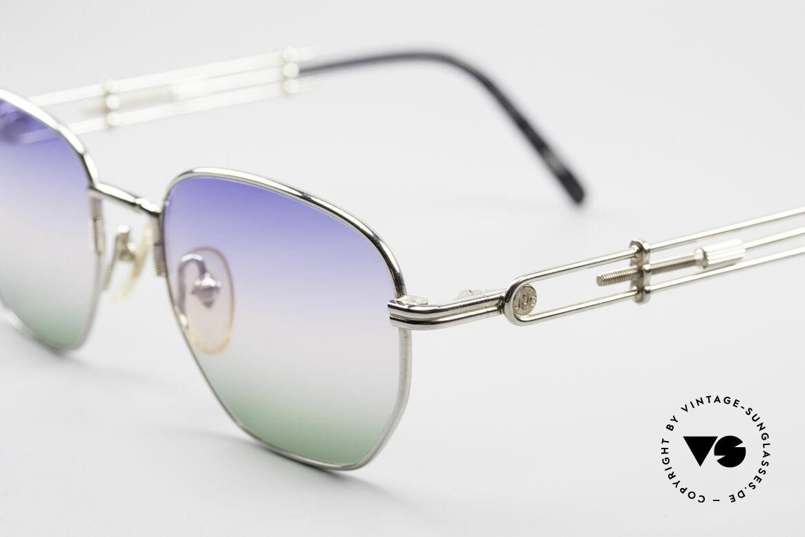 Jean Paul Gaultier 55-4174 Einstellbare Vintage Brille, von Himmelblau über Morgenrot zu Grasgrün (originell), Passend für Herren und Damen