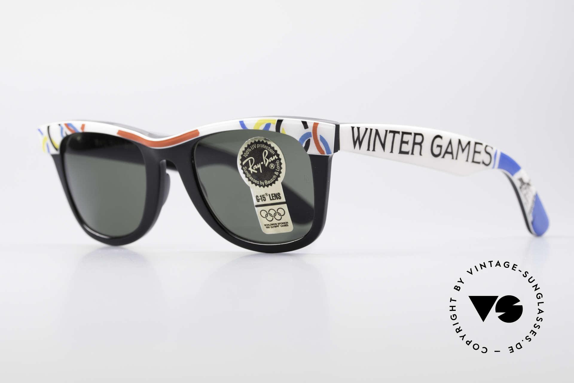 Ray Ban Wayfarer I Olympia 1928 St. Moritz, Bausch & Lomb Qualitätsgläser (100% UV-Schutz), Passend für Herren und Damen