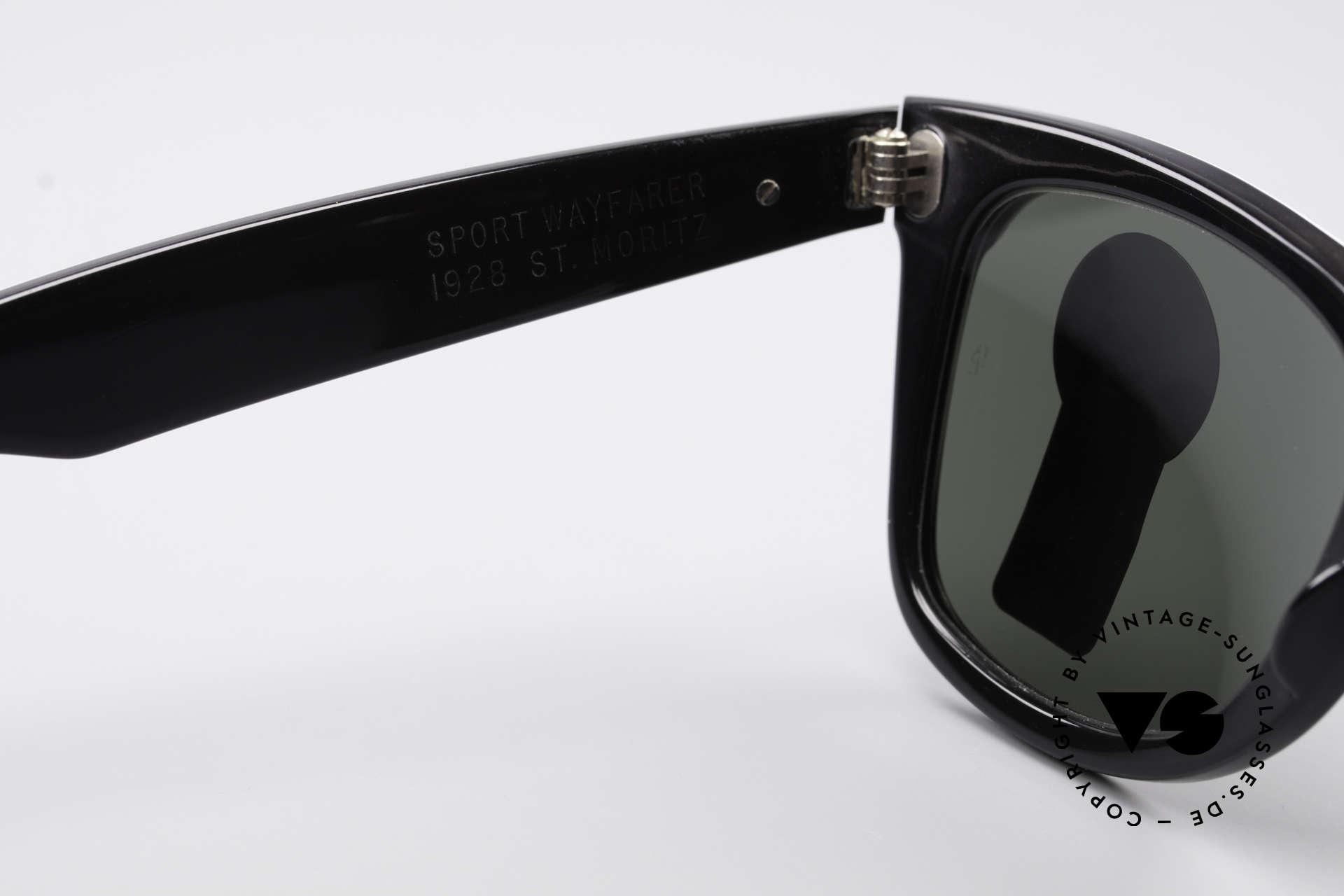 Ray Ban Wayfarer I Olympia 1928 St. Moritz, KEINE retro Sonnenbrille, 100% vintage ORIGINAL, Passend für Herren und Damen
