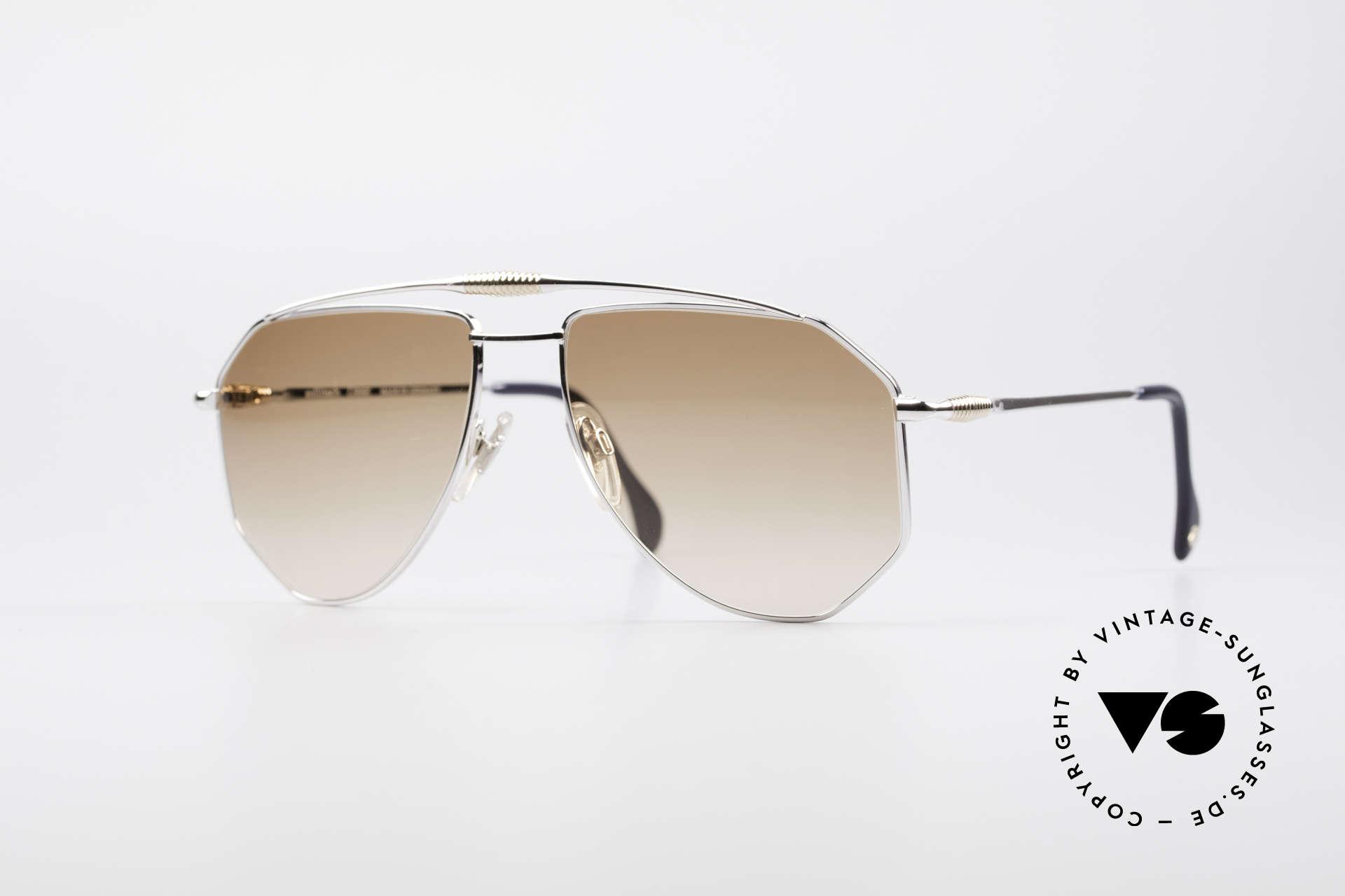 Zollitsch Cadre 120 Large 80er Sonnenbrille, vintage Zollitsch Sonnenbrille aus den späten 1980ern, Passend für Herren
